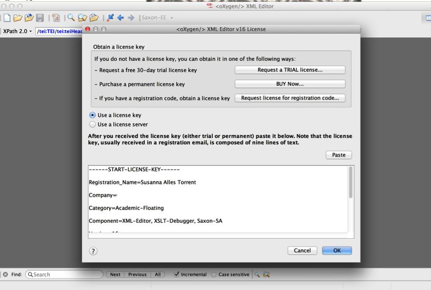 Instrucciones para la instalación del editor oXygen – TTHub